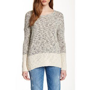 Vince Marble Colorblock Boatneck Sweater